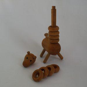 زرافه مگنت دار چوبی